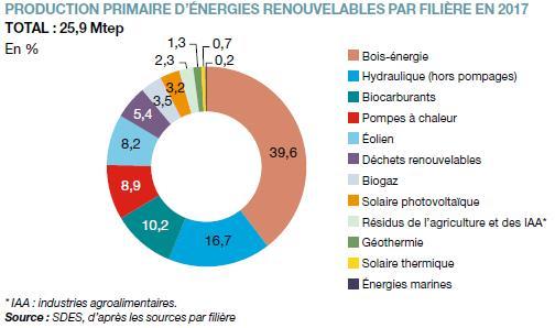 H2 production primaire d energies renouvelables 2017